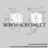 Gas vacuum sensor DG 120I-3 (84447060)