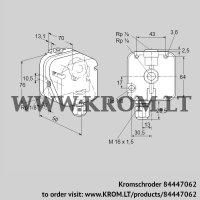 Gas vacuum sensor DG 120IG-4 (84447062)