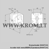 Pressure switch for gas DG 6SG-3 (84447141)