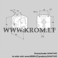 Pressure switch for gas DG 150SG-5 (84447445)