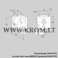Pressure switch for gas DG 500S-6 (84447492)