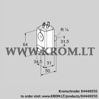 Pressure switch for gas DG 17VC8D-5W (84448050)
