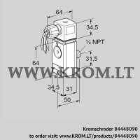 Pressure switch for gas DG 17VCT8-6W (84448090)