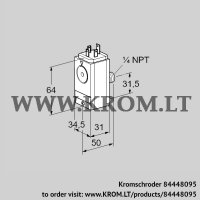 Pressure switch for gas DG 17VCT8-5WG (84448095)