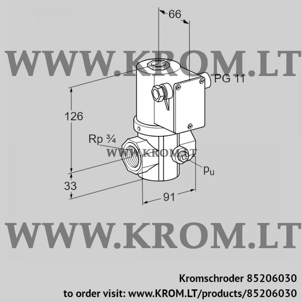 Kromschroder Gas solenoid valve VG 20R02NT31D, 85206030