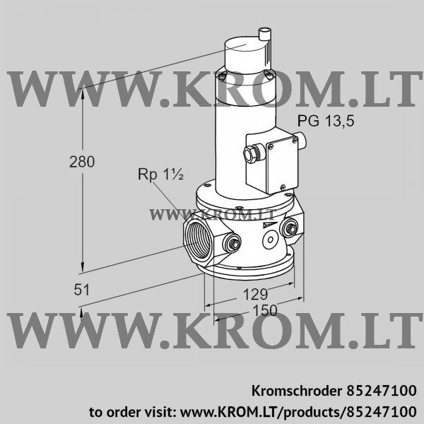 Kromschroder Air solenoid valve VR 40R01RT33D, 85247100