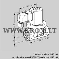 Gas solenoid valve VGP 10R02W6 (85293104)
