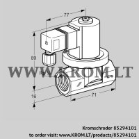 Gas solenoid valve VGP 15R02W6 (85294101)