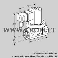 Gas solenoid valve VGP 25R01Q6 (85296201)