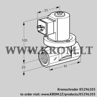 Gas solenoid valve VGP 25R01Q5 (85296203)
