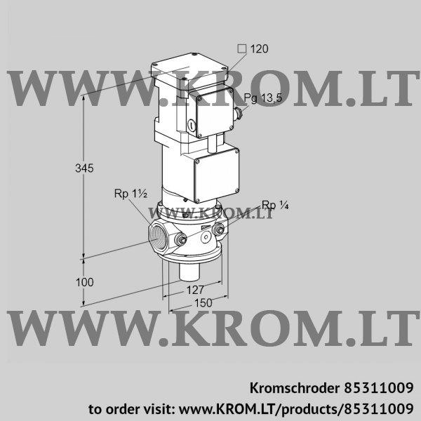 Kromschroder Motorized valve for gas VK 40R40W6A93DS, 85311009