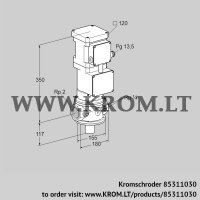 Motorized valve for gas VK 50R10T5A93D (85311030)