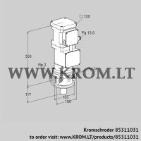 Motorized valve for gas VK 50R10MA93D (85311031)