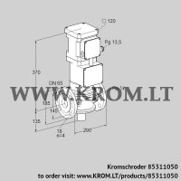 Motorized valve for gas VK 65F10T5A93D (85311050)