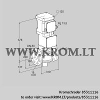 Motorized valve for gas VK 80F10T5A6L3D (85311116)