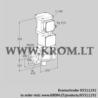 Motorized valve for gas VK 80F10T5A6L3DS2 (85311192)