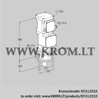 Motorized valve for gas VK 40R10T5A93DS (85312010)