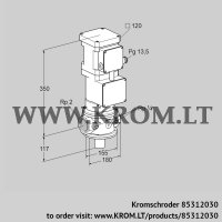 Motorized valve for gas VK 50R10T5A93DS (85312030)
