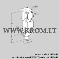 Motorized valve for gas VK 50R10MA93DS (85312031)
