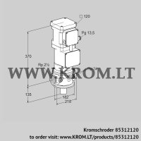 Motorized valve for gas VK 65R10T5A93DS (85312120)