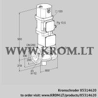 Motorized valve for gas VK 200F02W5XG43 (85314620)