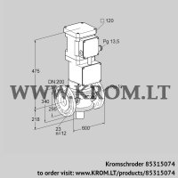 Motorized valve for gas VK 200F02W6A93S (85315074)