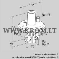Pressure regulator VGBF 15R40-1 (86044010)