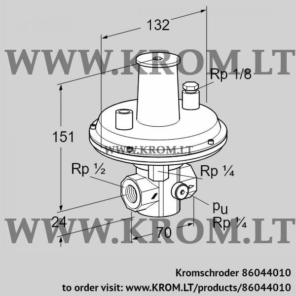 Kromschroder Pressure regulator VGBF 15R40-1, 86044010