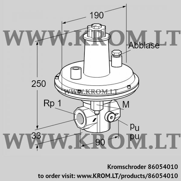 Kromschroder Pressure control VAR 25R05-1, 86054010