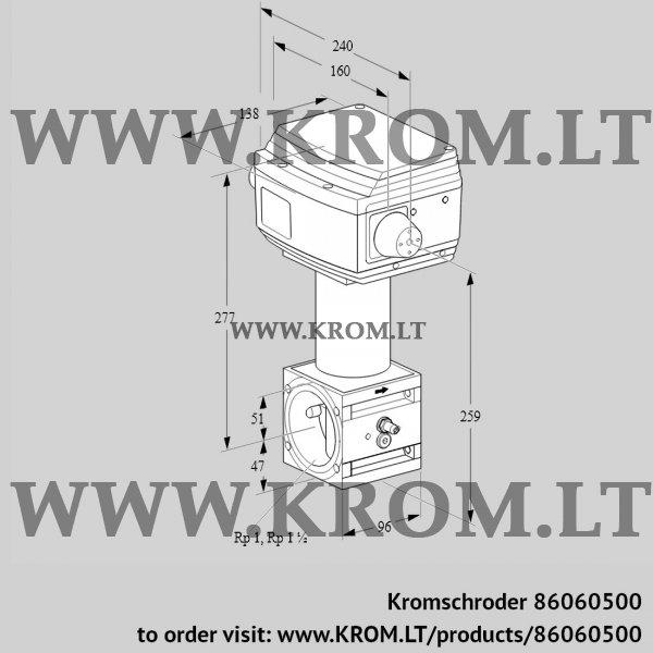Kromschroder Control valve RV 2/WML10W60S1, 86060500