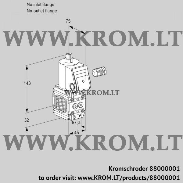 Kromschroder Gas solenoid valve VAS1-/NW, 88000001
