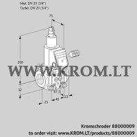 Gas solenoid valve VAS120R/LW (88000009)