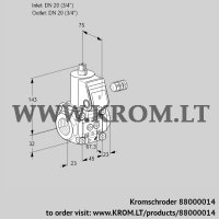 Gas solenoid valve VAS120R/NQ (88000014)