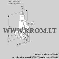 Gas solenoid valve VAS340R/LW (88000046)