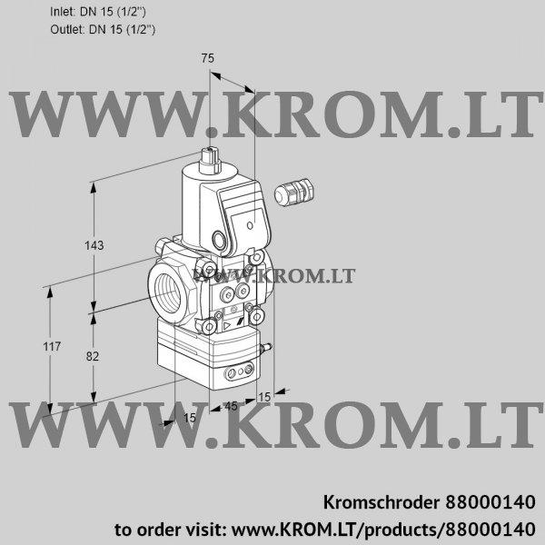Kromschroder Pressure regulator VAD115R/NW-25B, 88000140