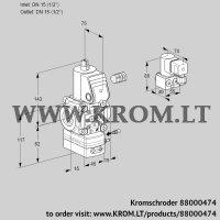 Air/gas ratio control VAG115R/NWBE (88000474)
