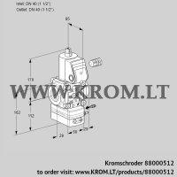 Air/gas ratio control VAG240R/NWAK (88000512)