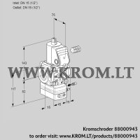 Air/gas ratio control VAG115R/NWBE (88000943)