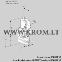 Pressure regulator VAD115R/NW-100B (88001058)