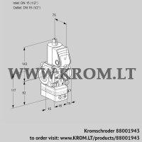 Air/gas ratio control VAG1T15N/NQBA (88001943)