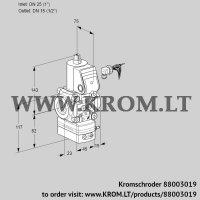 Pressure regulator VAD125/15R/NW-50B (88003019)