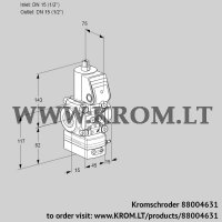 Air/gas ratio control VAG1T15N/NKBA (88004631)