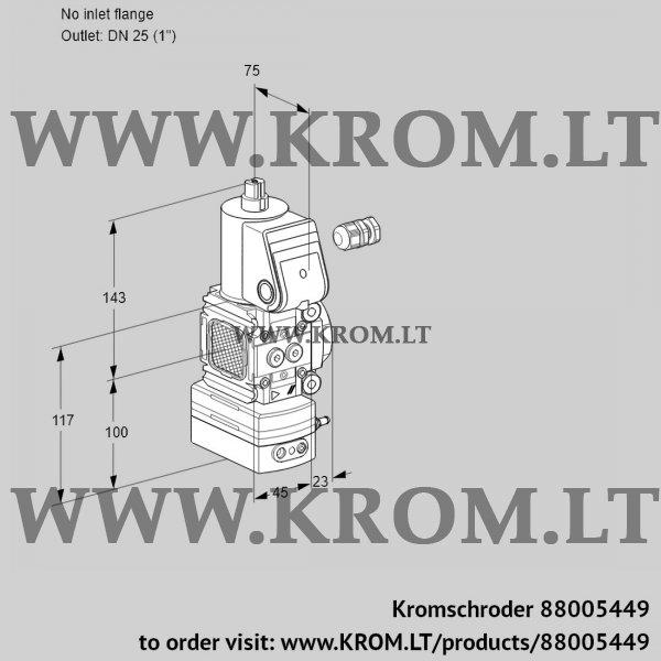 Kromschroder Air/gas ratio control VAV1-/25R/NWAK, 88005449
