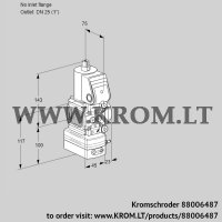 Air/gas ratio control VAV1-/25R/NWAK (88006487)