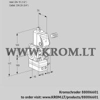 Air/gas ratio control VAV115/20R/NWAK (88006601)