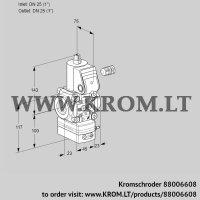 Air/gas ratio control VAV125R/NQAK (88006608)