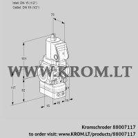 Air/gas ratio control VAG1T15N/NQSRBA (88007117)