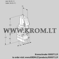 Air/gas ratio control VAG1T25N/NQSRAA (88007119)