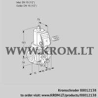 Gas solenoid valve VAN115R/NQ (88012138)