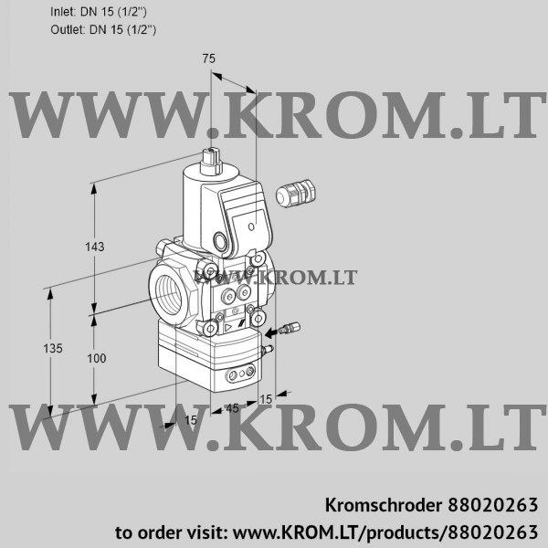 Kromschroder Flow rate regulator VAH115R/NWBE, 88020263